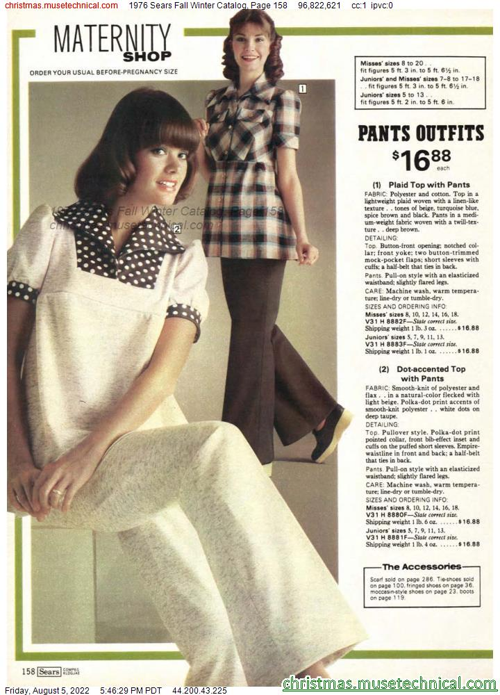 1976 Sears Fall Winter Catalog, Page 158