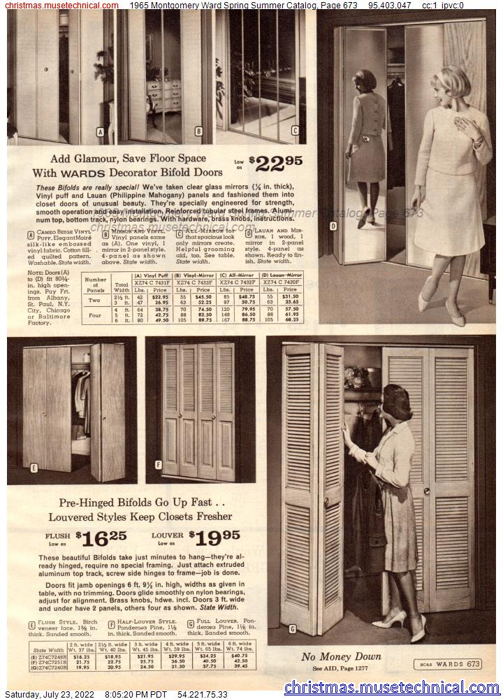 1965 Montgomery Ward Spring Summer Catalog, Page 673