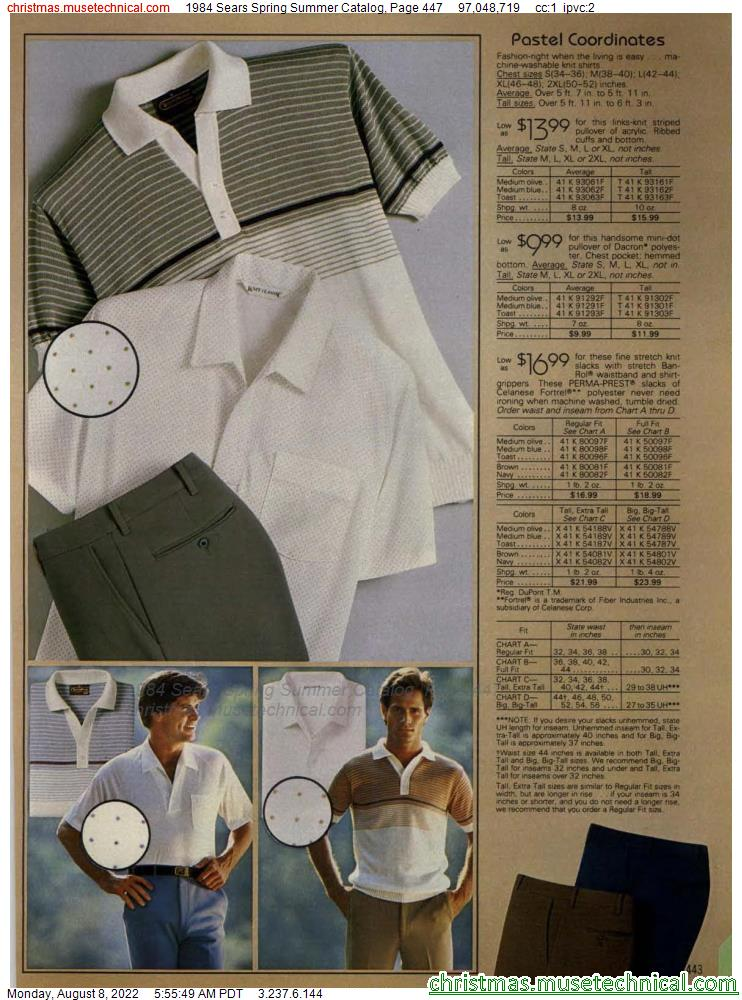 1984 Sears Spring Summer Catalog, Page 447