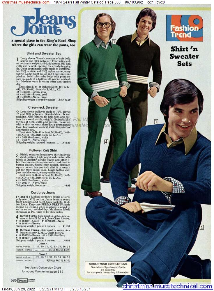 1974 Sears Fall Winter Catalog, Page 586