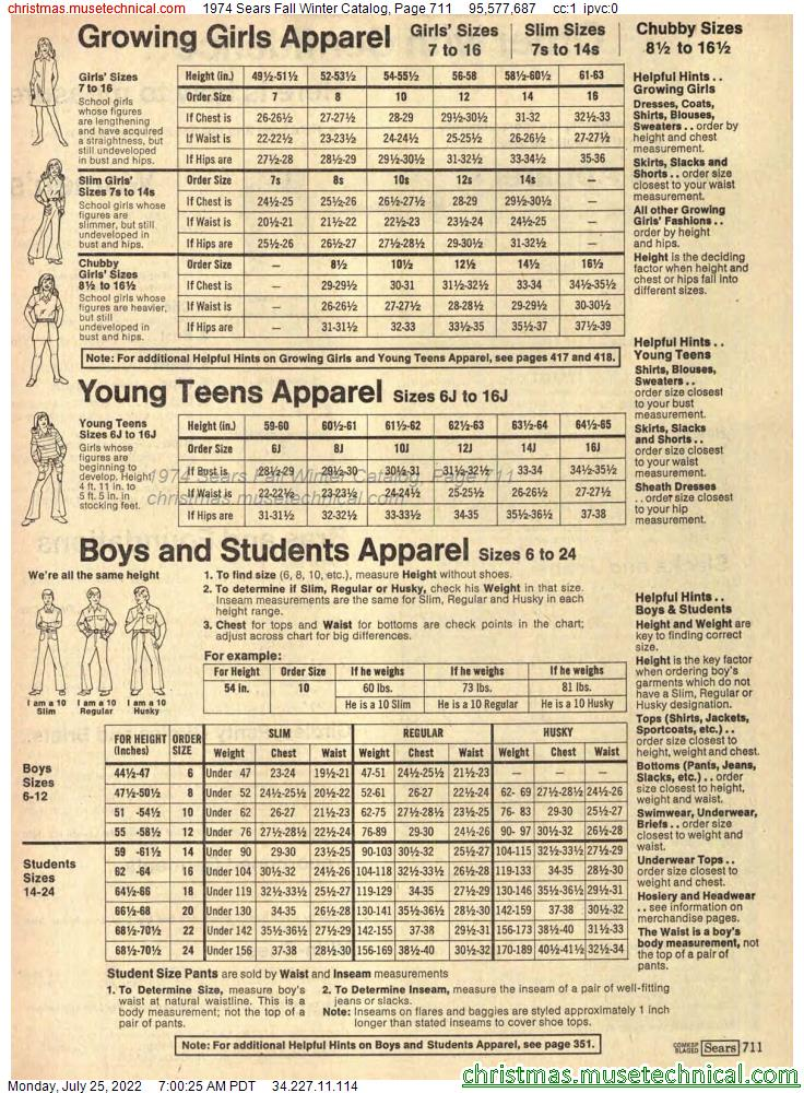 1974 Sears Fall Winter Catalog, Page 711