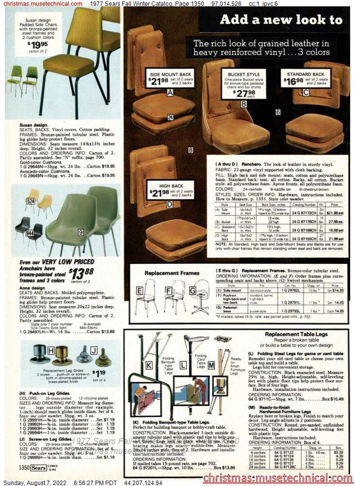 1977 Sears Fall Winter Catalog, Page 1350