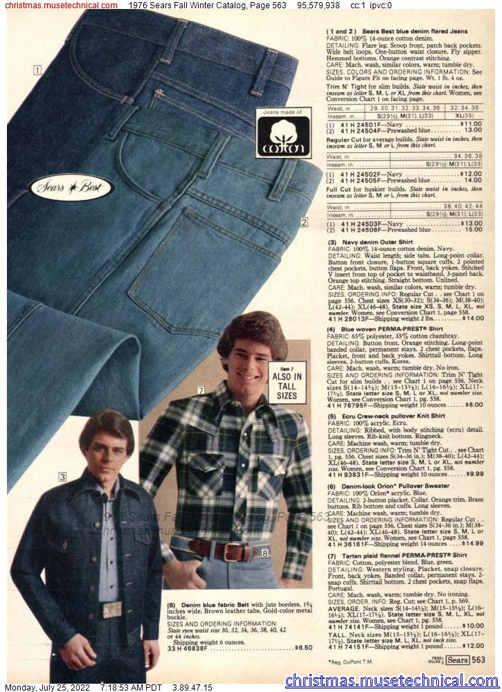 1976 Sears Fall Winter Catalog, Page 563