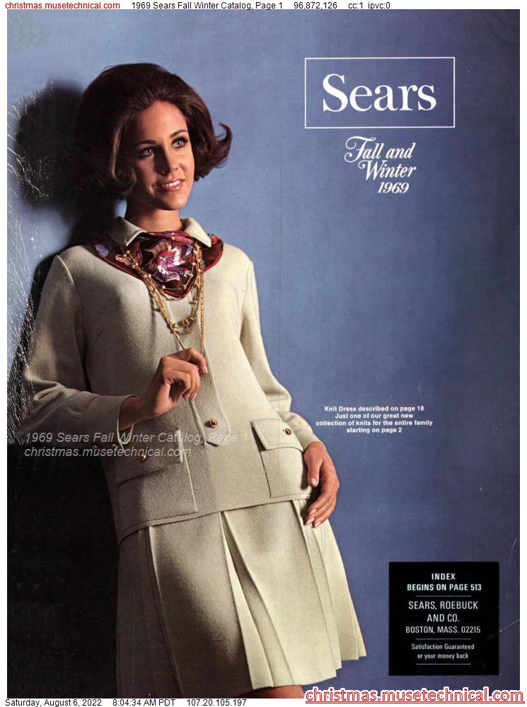 1969 Sears Fall Winter Catalog, Page 1