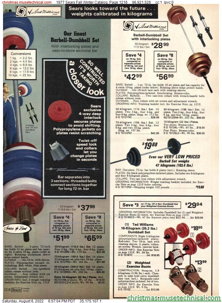 1977 Sears Fall Winter Catalog, Page 1216