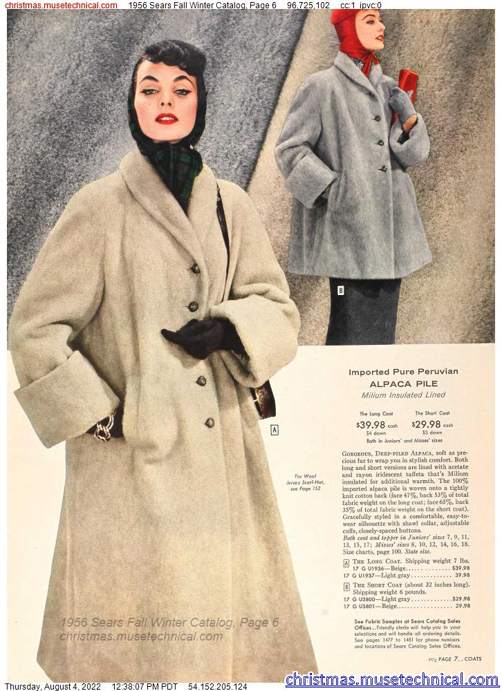 1956 Sears Fall Winter Catalog, Page 6