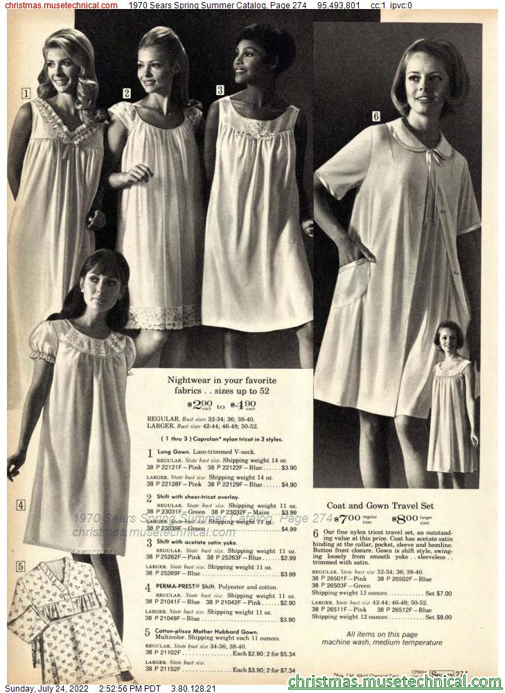 1970 Sears Spring Summer Catalog, Page 274
