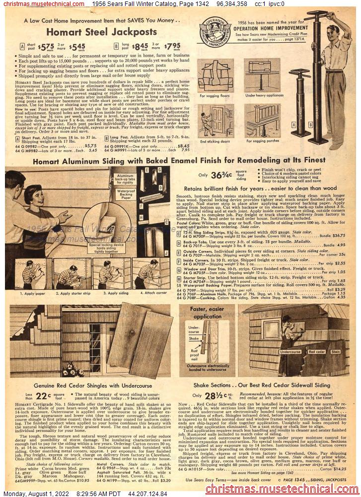 1956 Sears Fall Winter Catalog, Page 1342