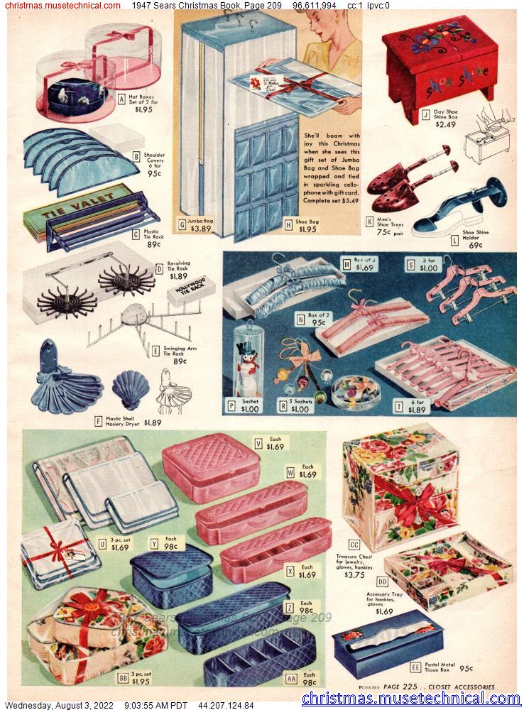 1947 Sears Christmas Book, Page 209
