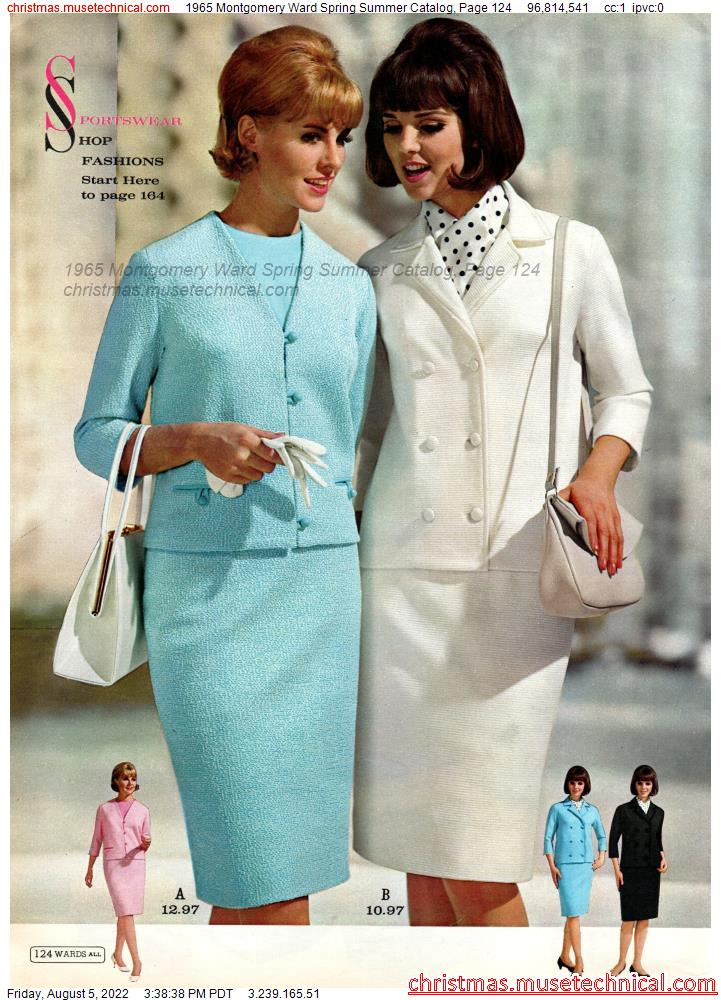 1965 Montgomery Ward Spring Summer Catalog, Page 124