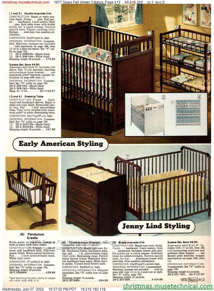 1977 Sears Fall Winter Catalog, Page 413