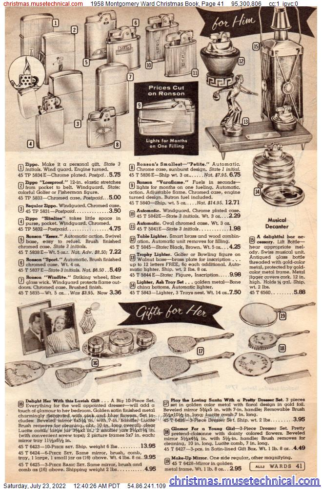 1958 Montgomery Ward Christmas Book, Page 41