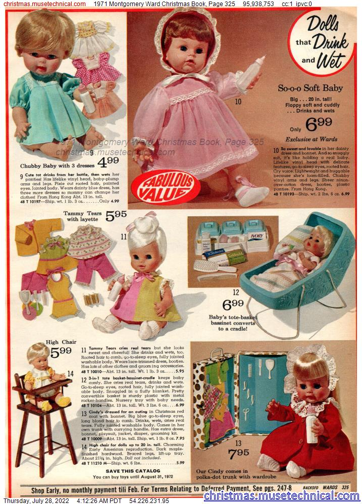1971 Montgomery Ward Christmas Book, Page 325