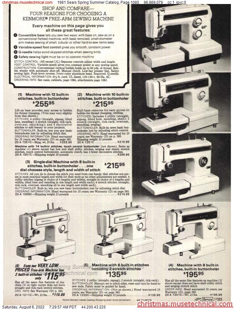 1981 Sears Spring Summer Catalog, Page 1085