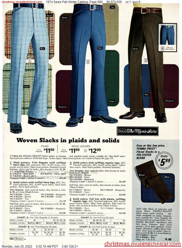 1974 Sears Fall Winter Catalog, Page 560