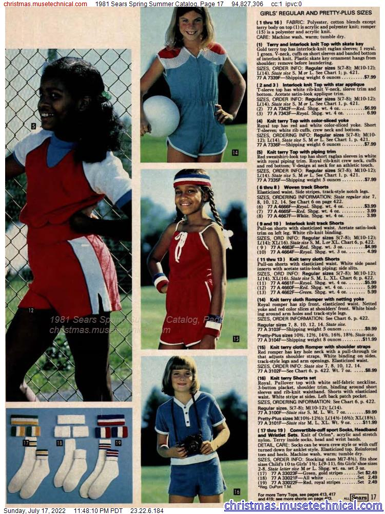 1981 Sears Spring Summer Catalog, Page 17