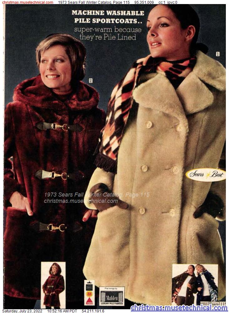 1973 Sears Fall Winter Catalog, Page 115