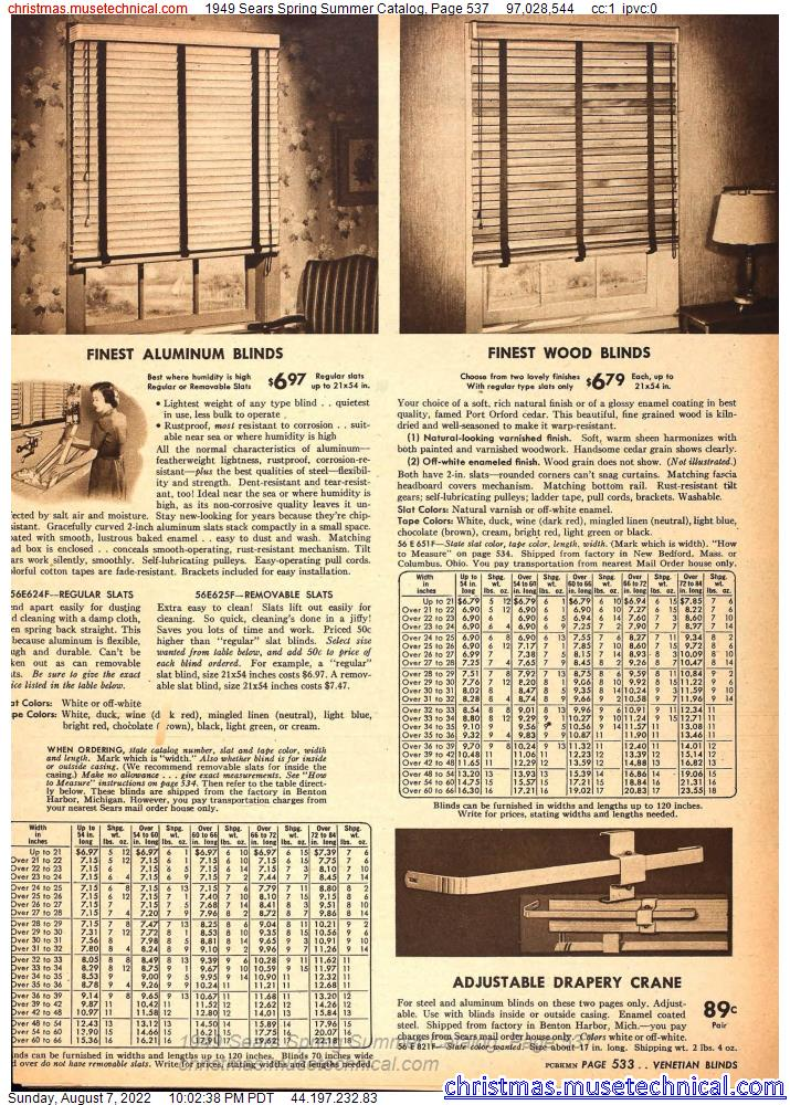 1949 Sears Spring Summer Catalog, Page 537