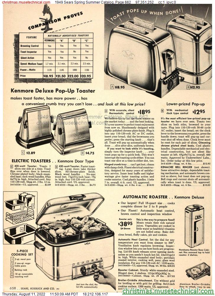 1949 Sears Spring Summer Catalog, Page 662