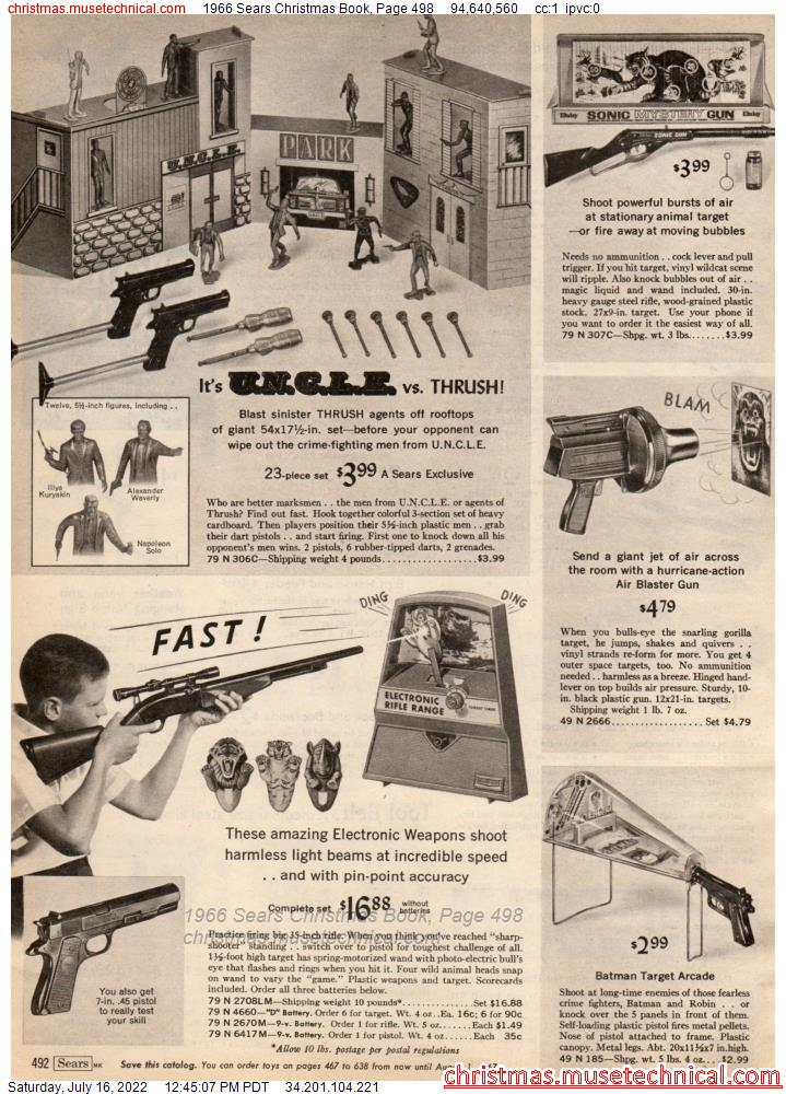 1966 Sears Christmas Book, Page 498