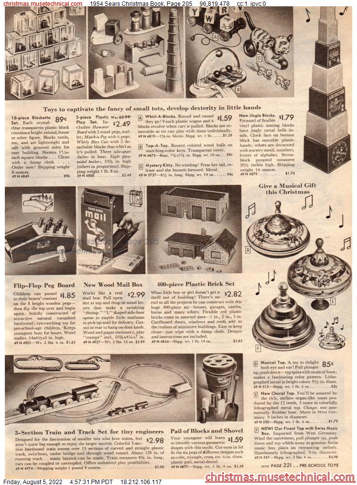 1954 Sears Christmas Book, Page 205