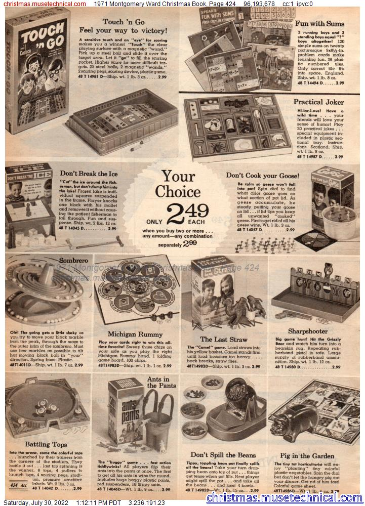 1971 Montgomery Ward Christmas Book, Page 424
