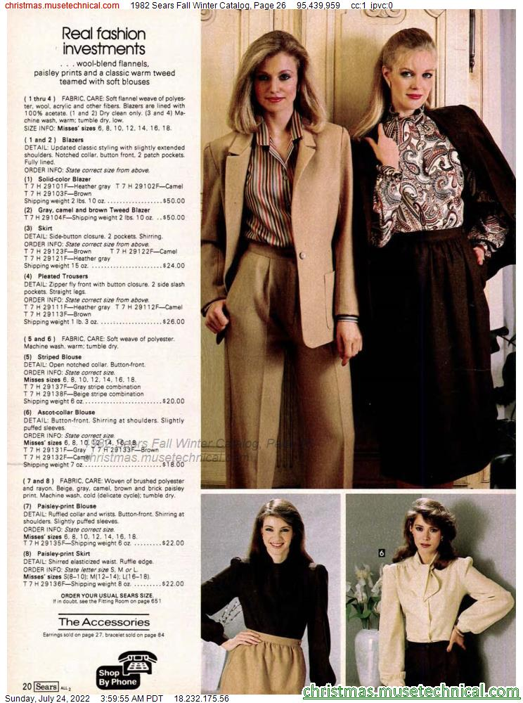 1982 Sears Fall Winter Catalog, Page 26