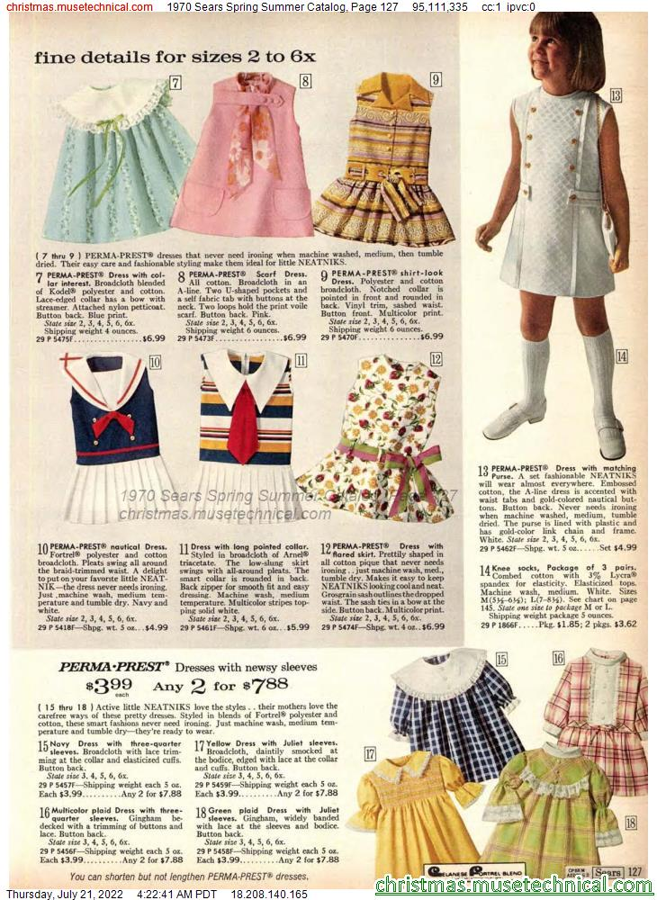 1970 Sears Spring Summer Catalog, Page 127