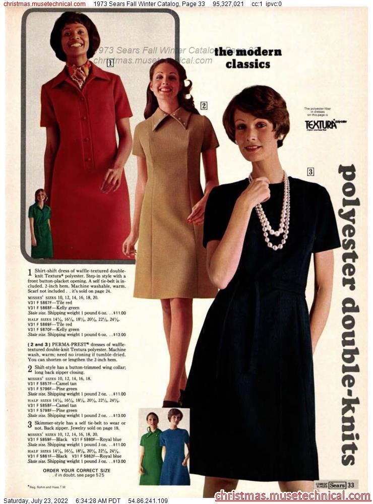 1973 Sears Fall Winter Catalog, Page 33
