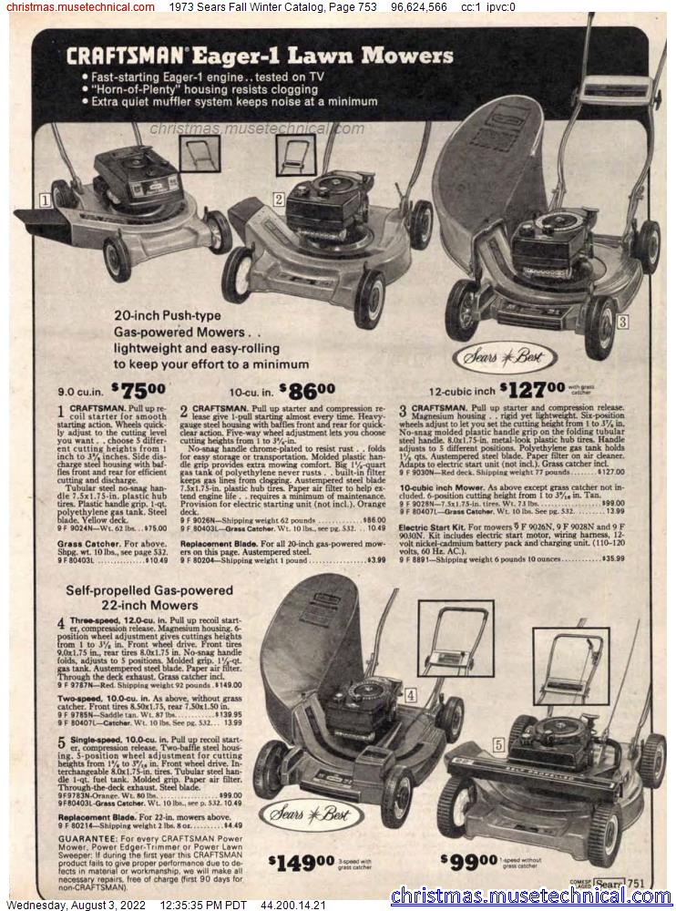 1973 Sears Fall Winter Catalog, Page 753