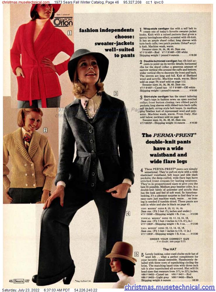 1973 Sears Fall Winter Catalog, Page 46