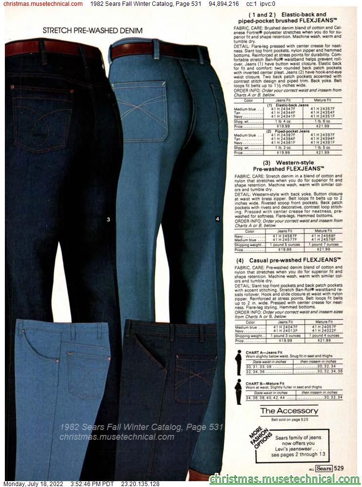 1982 Sears Fall Winter Catalog, Page 531