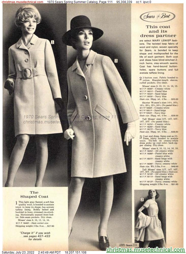 1970 Sears Spring Summer Catalog, Page 111