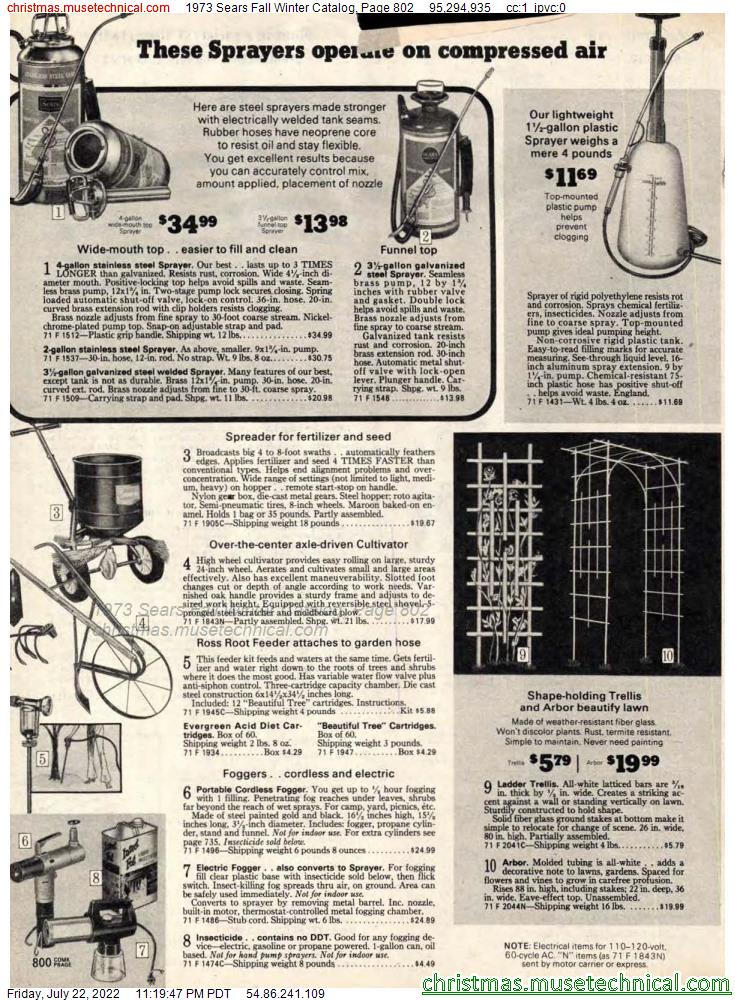 1973 Sears Fall Winter Catalog, Page 802