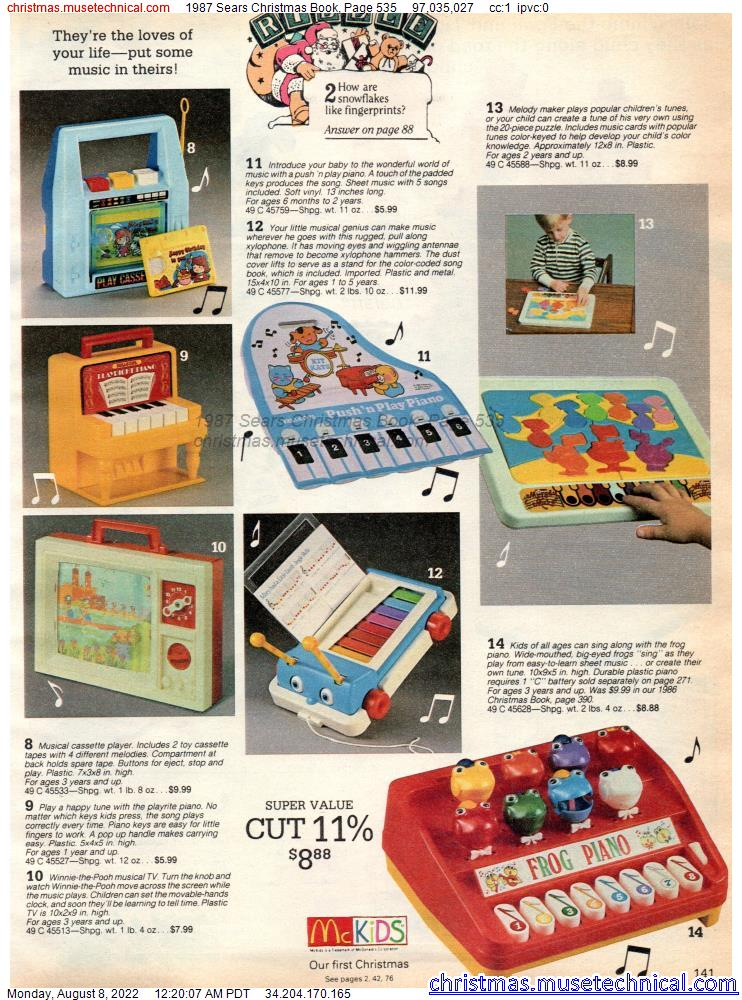 1987 Sears Christmas Book, Page 535