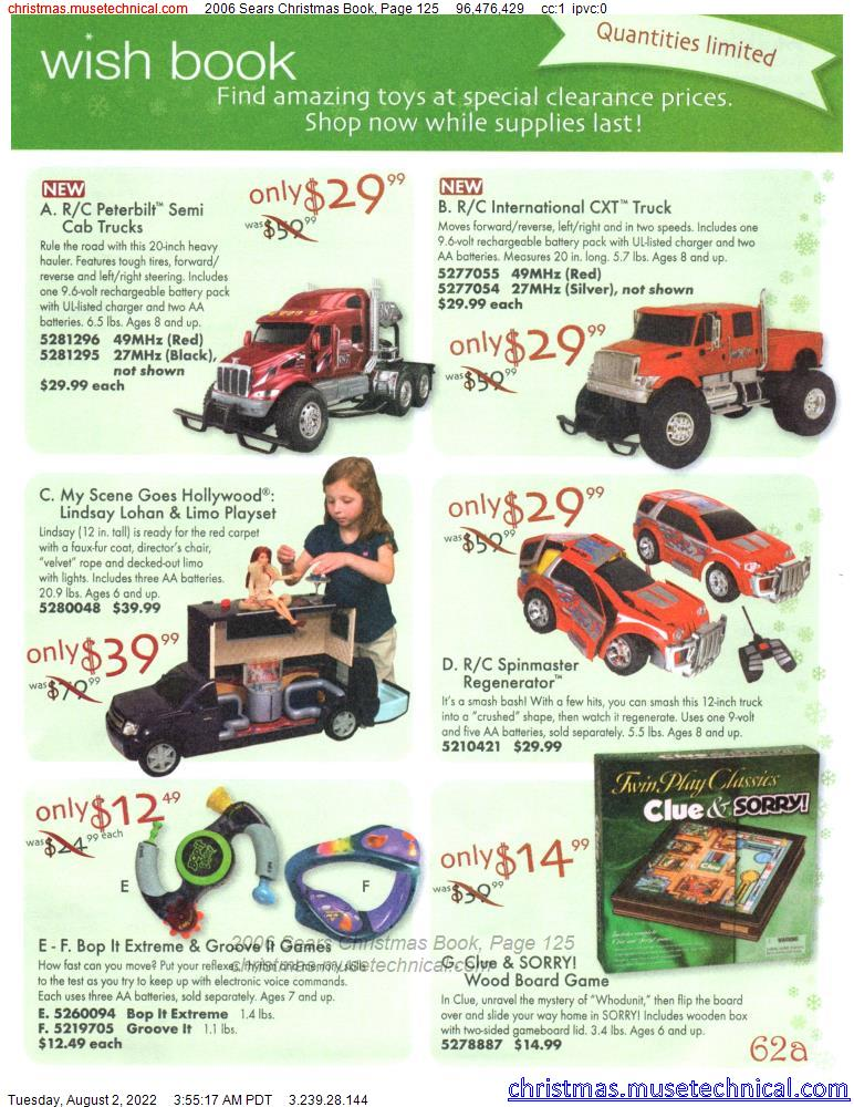 2006 Sears Christmas Book, Page 125