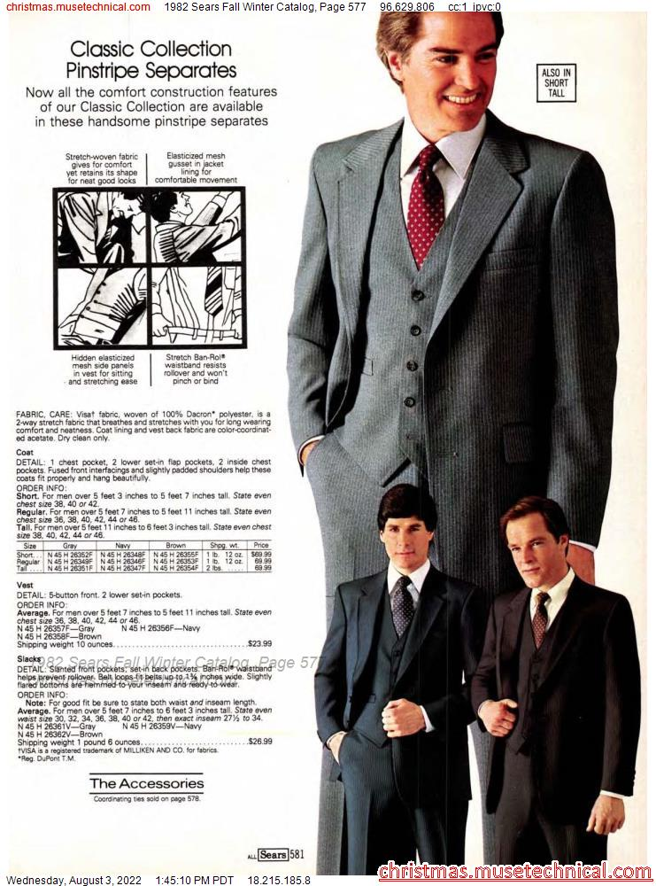 1982 Sears Fall Winter Catalog, Page 577