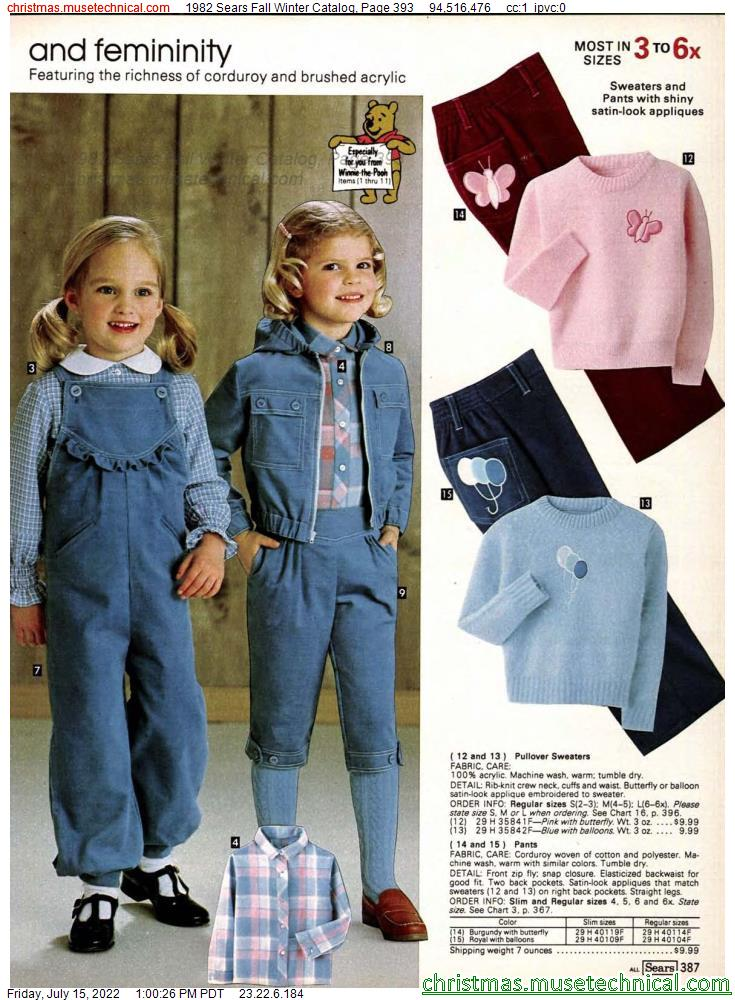 1982 Sears Fall Winter Catalog, Page 393