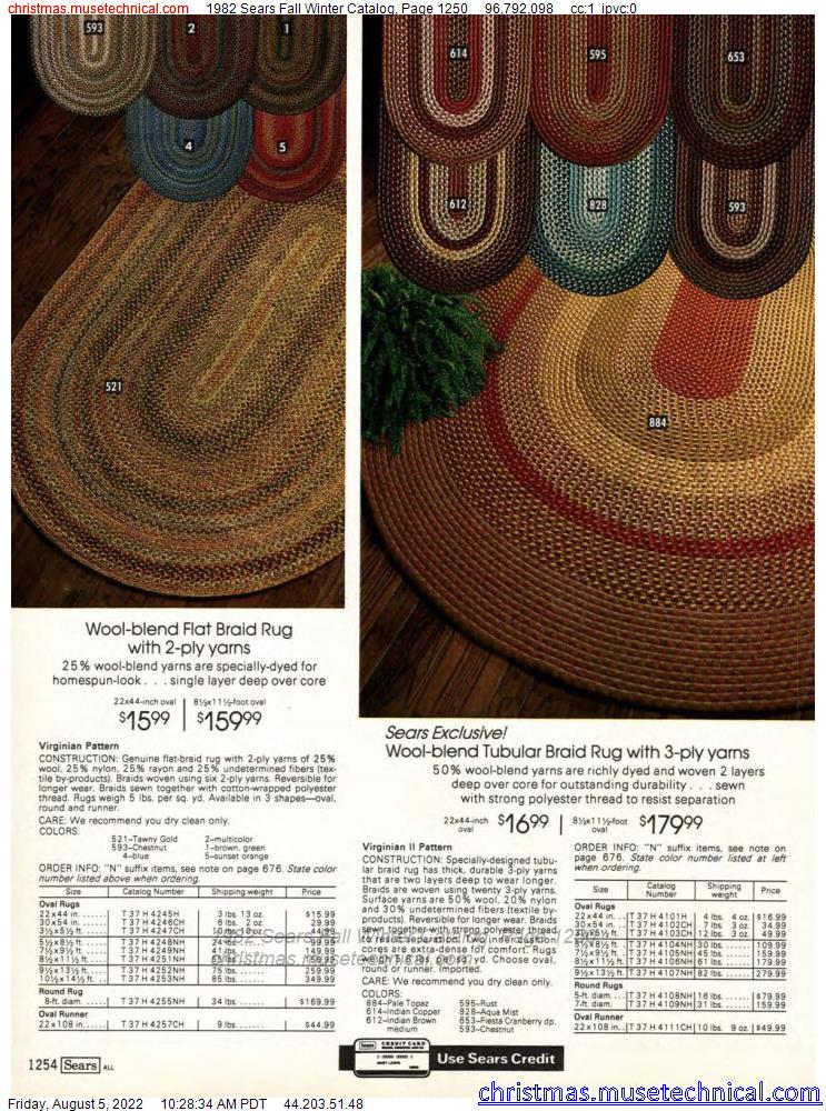 1982 Sears Fall Winter Catalog, Page 1250