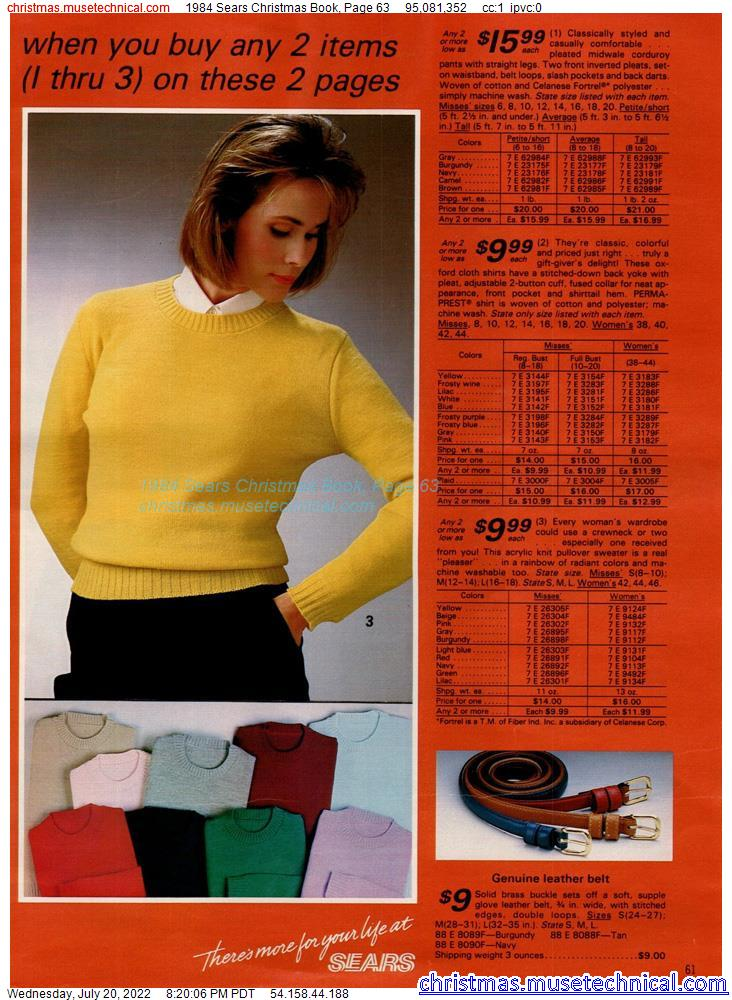 1984 Sears Christmas Book, Page 63