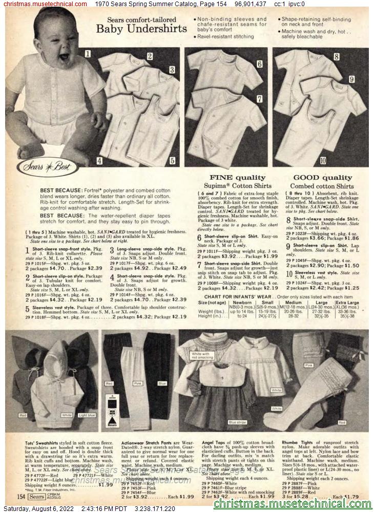 1970 Sears Spring Summer Catalog, Page 154