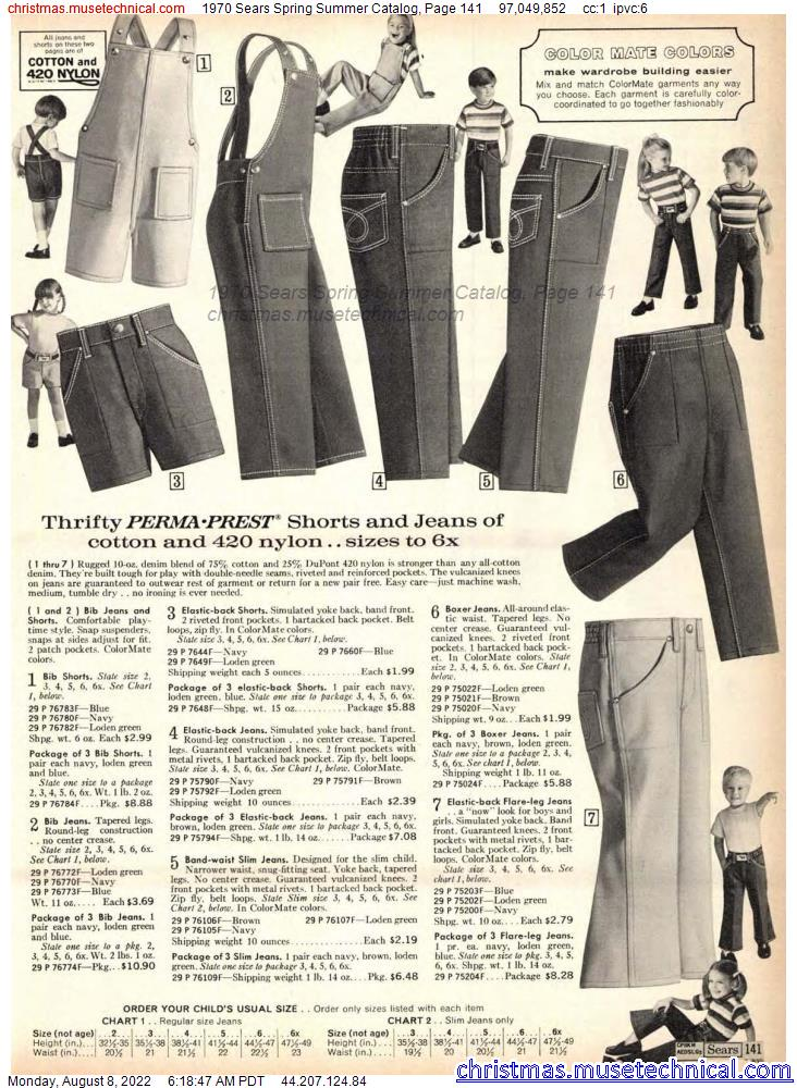 1970 Sears Spring Summer Catalog, Page 141
