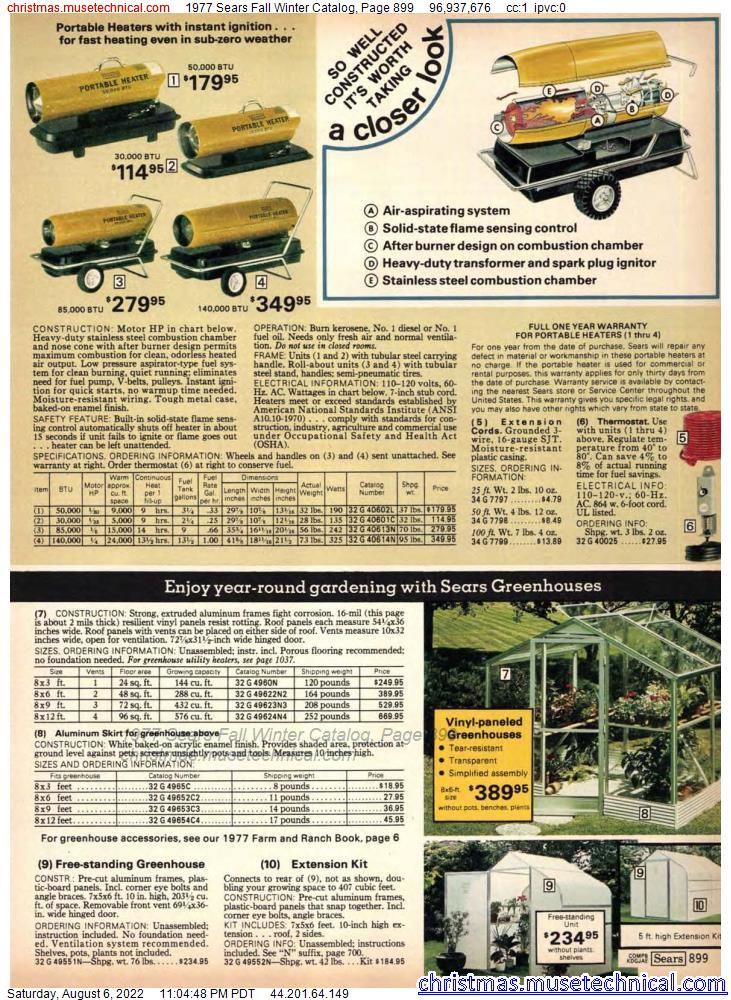 1977 Sears Fall Winter Catalog, Page 899