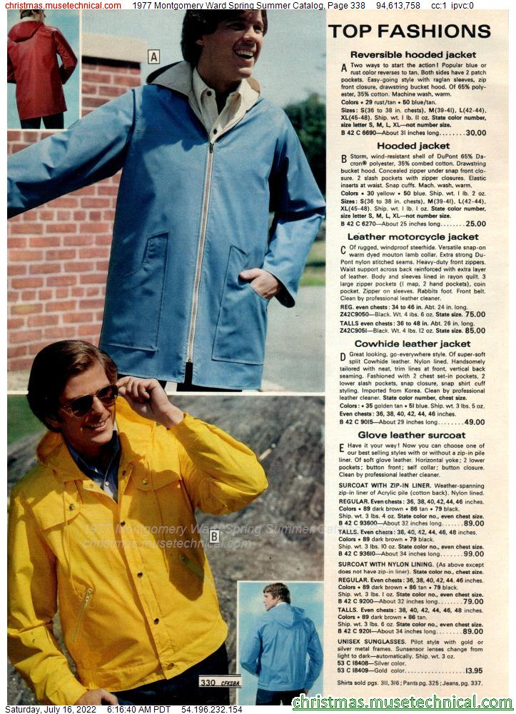 1977 Montgomery Ward Spring Summer Catalog, Page 338