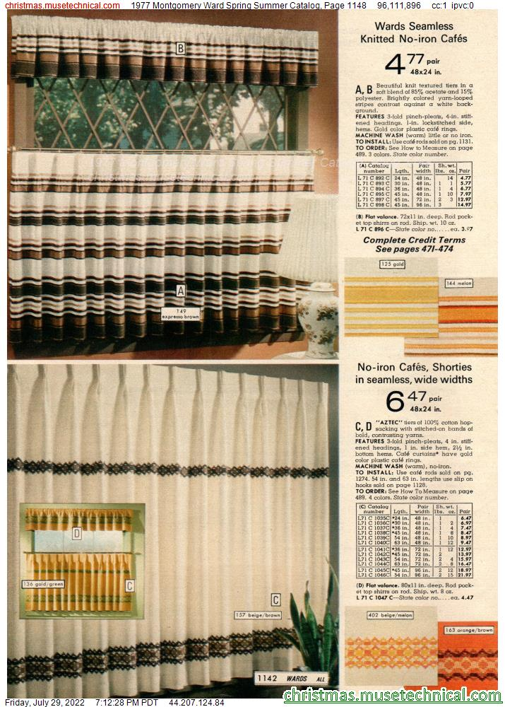 1977 Montgomery Ward Spring Summer Catalog, Page 1148