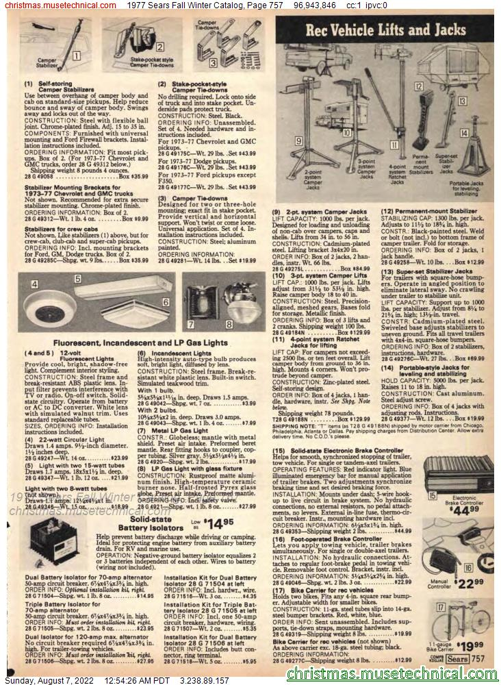 1977 Sears Fall Winter Catalog, Page 757