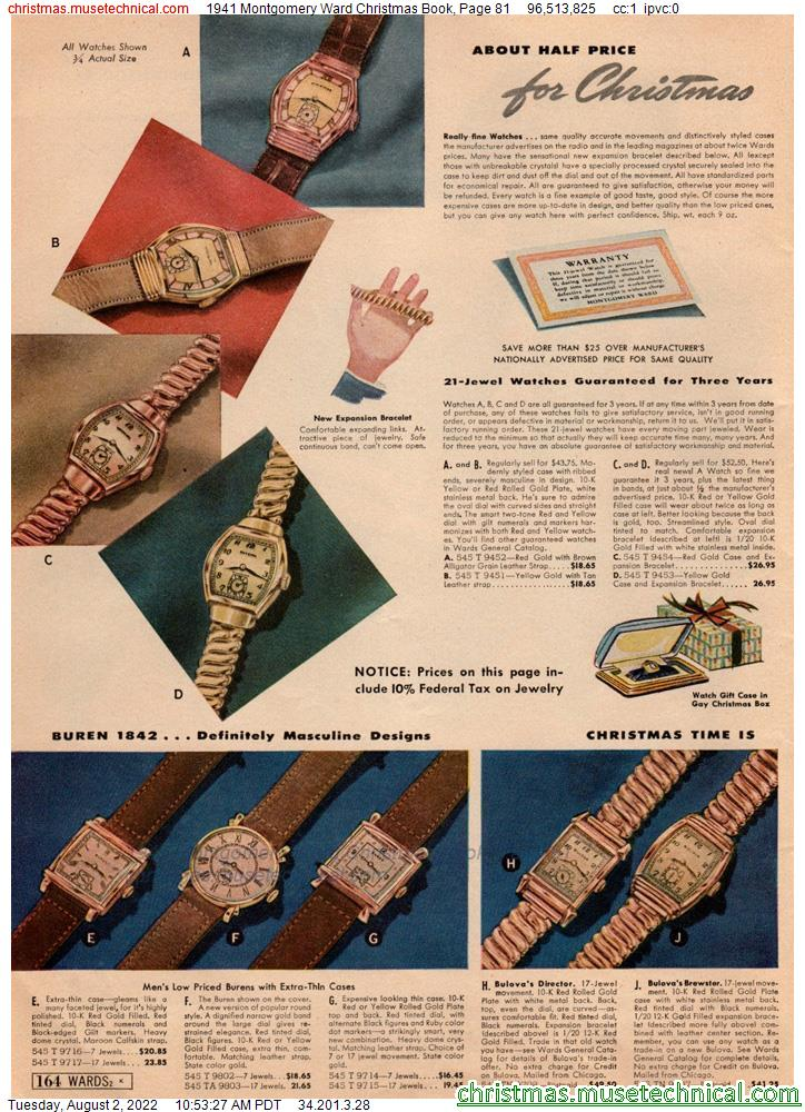 1941 Montgomery Ward Christmas Book, Page 81