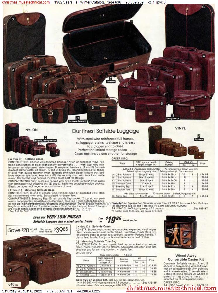 1982 Sears Fall Winter Catalog, Page 636