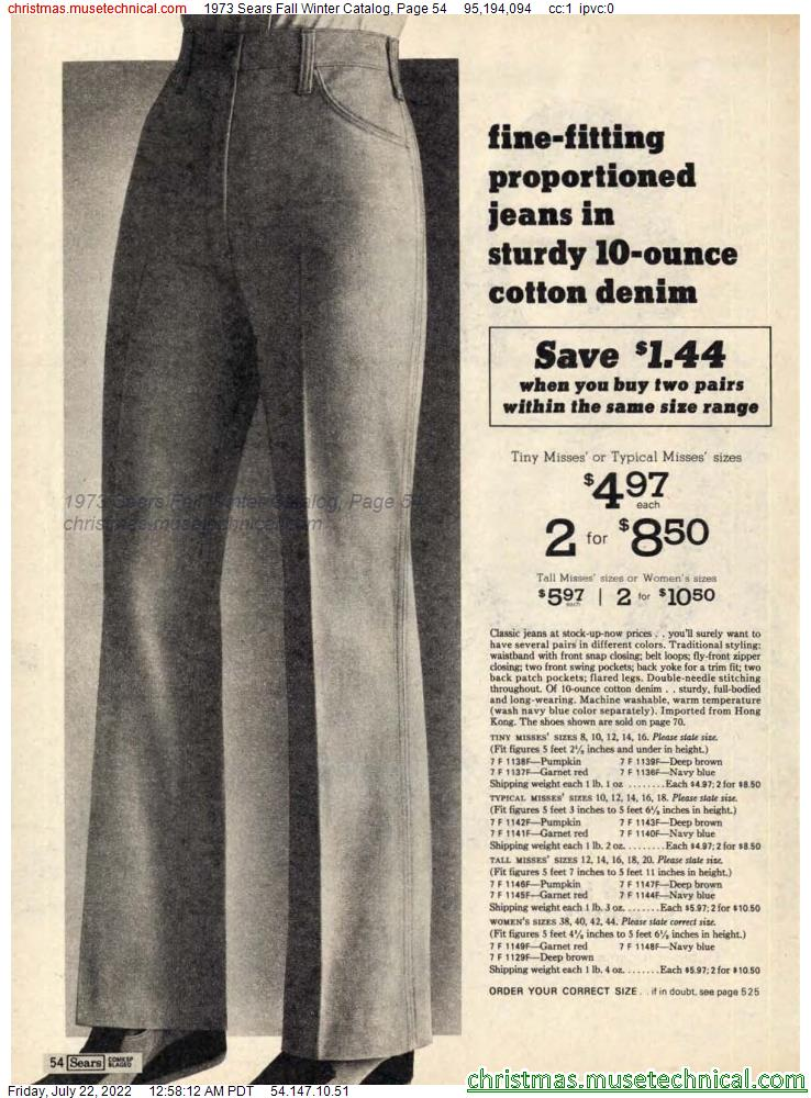 1973 Sears Fall Winter Catalog, Page 54