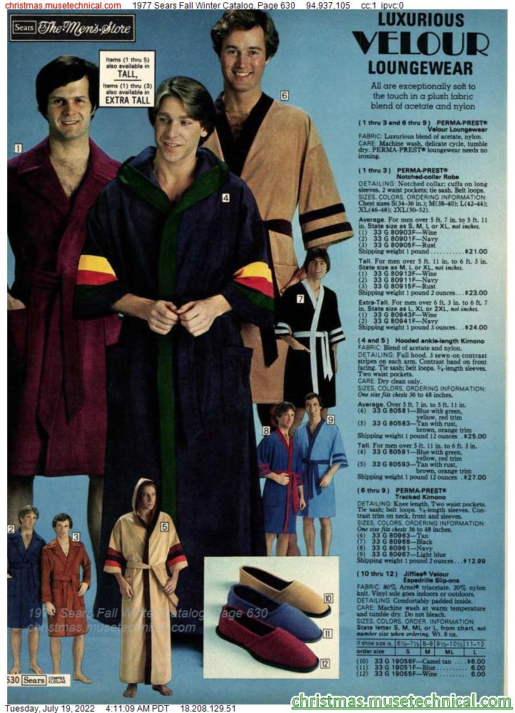 1977 Sears Fall Winter Catalog, Page 630